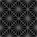 Halftone round black seamless background star diamond check cros. S flower can be used for both print and web page Royalty Free Stock Image
