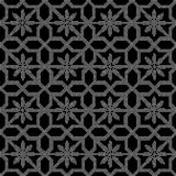 Halftone round black seamless background star flower tracery. Can be used for both print and web page Royalty Free Stock Image