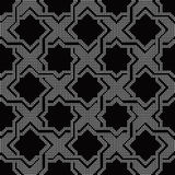 Halftone round black seamless background star geometry cross spi. Ral can be used for both print and web page Stock Photos