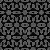 Halftone round black seamless background star geometry kaleidosc. Ope can be used for both print and web page Royalty Free Stock Images