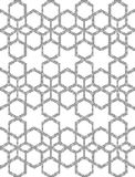 Halftone round black seamless background star hexagon check geom Royalty Free Stock Photo