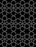 Halftone round black seamless background star hexagon check geom. Etry can be used for both print and web page Royalty Free Stock Photo
