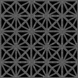 Halftone round black seamless background star octagon check cros Stock Photos