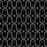 Halftone round black seamless background star polygon cross fram. E can be used for both print and web page Royalty Free Stock Photos