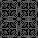 Halftone round black seamless background star polygon cross line. Can be used for both print and web Stock Images