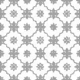 Halftone round black seamless background star wave cross flower Stock Photo