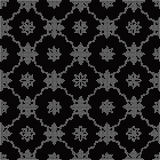 Halftone round black seamless background star wave cross flower. Can be used for both print and web page Stock Photo
