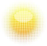 halftone słońce Obrazy Stock