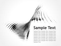 Halftone sample text vector illustration Royalty Free Stock Photography