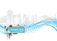 Halftone sample text vector illustration Royalty Free Stock Image