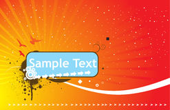 Halftone sample text vector illustration Stock Image