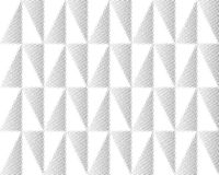 Halftone screen triangle geometric form. Black background. White texture and pattern.paper folding. pleats Stock Photos