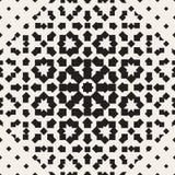 Halftone seamless geometric pattern. Monochrome texture. Halftone seamless geometric pattern. Monochrome vector texture Stock Image