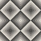 Halftone seamless pattern. Diagonal zigzag lines in square Royalty Free Stock Image