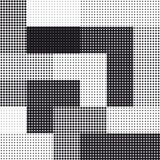Halftone seamless square background Stock Image