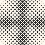 Halftone seamless texture with floral geometric shapes Royalty Free Stock Photos