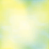 Halftone seamless vector background. Abstract halftone effect with colored dots on white background Royalty Free Stock Photo