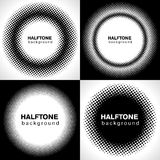 Halftone. Set of Halftone circle backgrounds Stock Photography
