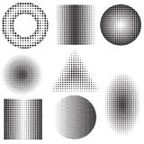 Halftone set Stock Photos