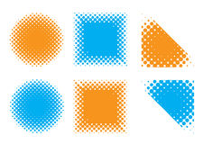 Halftone shape Stock Photography
