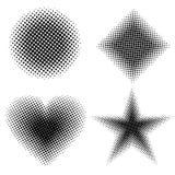 Halftone shapes Royalty Free Stock Image