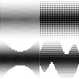 Halftone shapes Stock Photography