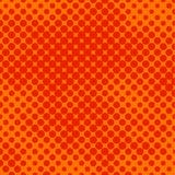 Halftone sinaasappel Stock Afbeeldingen