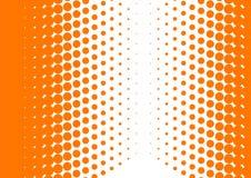 Halftone sinaasappel royalty-vrije illustratie