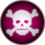 Halftone skull Royalty Free Stock Photography