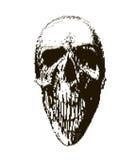 Halftone skull. Design element. Invitation, party. Mosaic, perforation, grunge. Halftone skull. Design element. Invitation, party. Mosaic perforation grunge Royalty Free Stock Photography