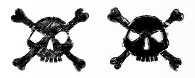 Halftone skull. Design element. Invitation, party. Mosaic, perforation, grunge. Halftone skull. Design element. Invitation, party. Mosaic perforation grunge Stock Photos
