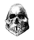 Halftone skull. Design element. Invitation, party. Mosaic, perforation, grunge. Halftone skull. Design element. Invitation, party. Mosaic perforation grunge Stock Images