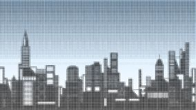 Halftone skyline Royalty Free Stock Image