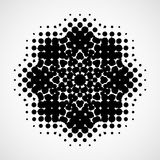 Halftone snowflake. Abstract black and white design element Royalty Free Stock Photo