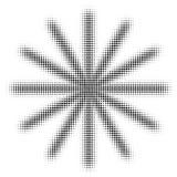 Halftone snowflake isolated on white background Stock Photo