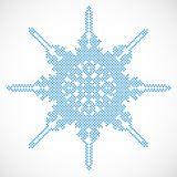 Halftone snowflake. Vector Stock Photography