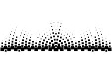 Halftone sound wave black and white pattern. Tech music design elements isolated on white background. Perfect for web design, posters, musical banners Royalty Free Stock Photography