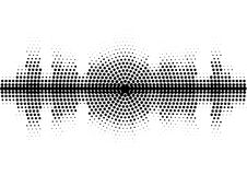 Halftone sound wave black and white pattern. Tech music design elements  on white background. Perfect for web design, posters, musical banners, wallpapers Royalty Free Stock Photos