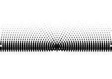 Halftone sound wave black and white pattern. Tech music design elements  on white background. Perfect for web design, posters, musical banners, wallpapers Royalty Free Stock Image