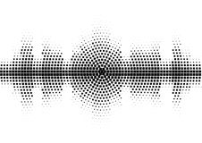 Halftone sound wave black and white pattern. Tech music design elements isolated on white background. Perfect for web design, posters, musical banners Royalty Free Stock Photo