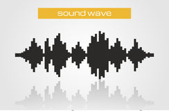 Halftone sound wave modern music design element Royalty Free Stock Photography