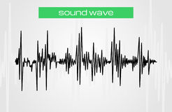 Halftone sound wave modern music design element Stock Photo
