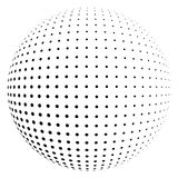 Halftone sphere on black Royalty Free Stock Photography
