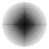 Halftone sphere black Royalty Free Stock Photo