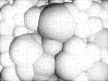 Halftone spheres Stock Photos