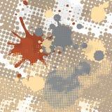 Halftone splash grunge background Royalty Free Stock Image