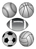 Halftone Sports Balls Royalty Free Stock Photo
