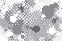 Halftone spot grunge background Royalty Free Stock Photos