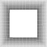 Halftone sqaure frame Royalty Free Stock Photos