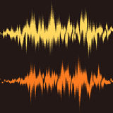 Halftone square vector elements.Vector sound waves Royalty Free Stock Photos